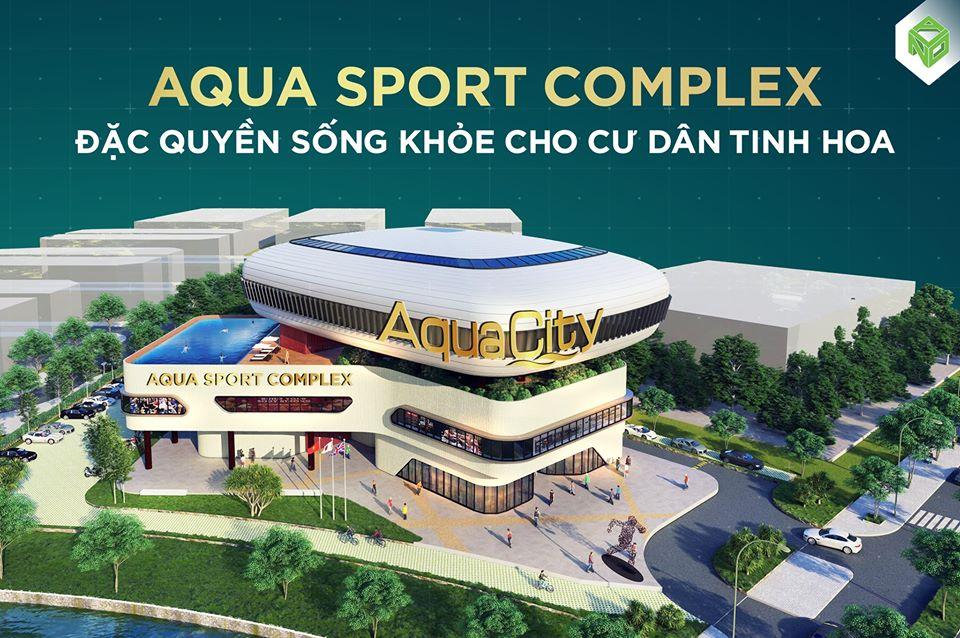 Phối cảnh trung tâm thể thao đa năng Aqua City Complex với tổng diện tích 8.000m2
