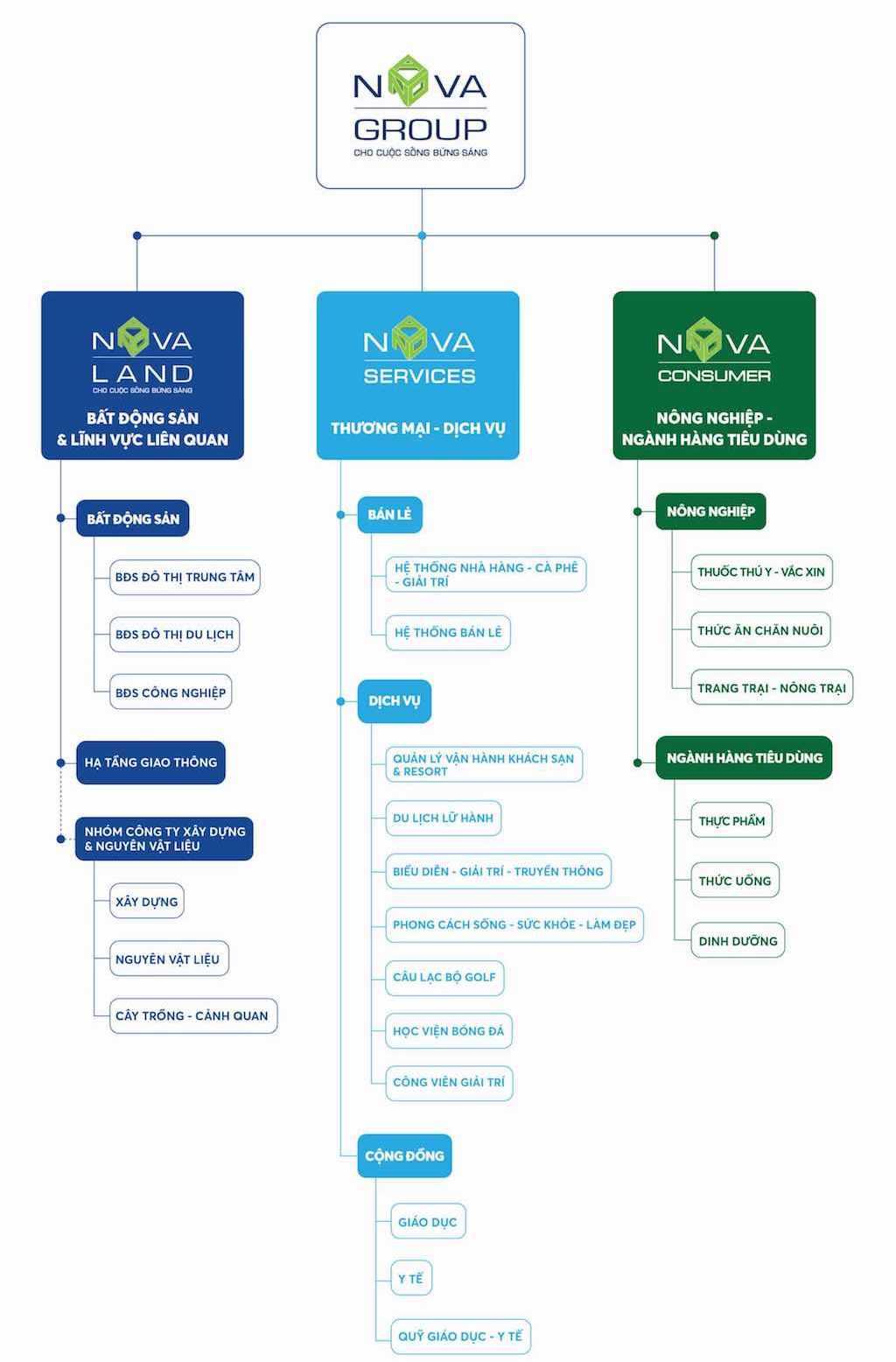 Hệ sinh thái của Tập đoàn Novagroup